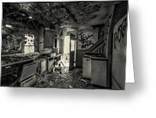 Kitchen In Decay Greeting Card