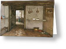 Kitchen Interior, C.1899 Greeting Card