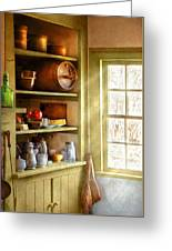 Kitchen - Kitchen Necessities Greeting Card by Mike Savad
