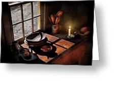 Kitchen - On A Table II  Greeting Card by Mike Savad