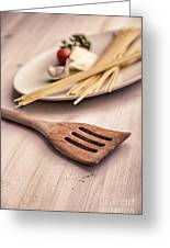 Kitchen Still Life With Pasta  Greeting Card