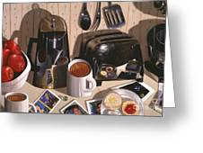 Kitchen Table No.1 1994   Skewed Perspective Series 1991 - 2000 Greeting Card