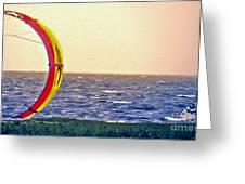 Kite Boarder 2 Greeting Card