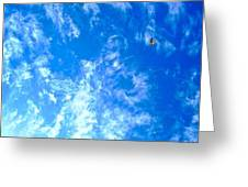Kite In The Clouds Greeting Card