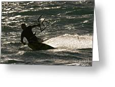 Kite Surfer 03 Greeting Card by Rick Piper Photography