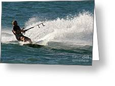 Kite Surfer 04 Greeting Card by Rick Piper Photography