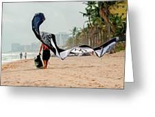 Kiteboard Gear Greeting Card