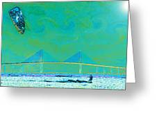 Kiteboarding The Bay Greeting Card