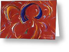 Kites In Red Greeting Card