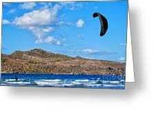 Kitesurfer 02 Greeting Card by Antony McAulay