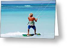 Kitesurfer Greeting Card