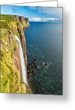 Kitl Rock Waterfall Greeting Card