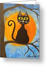 Kitty Of The Night Greeting Card