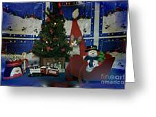 Kitty Says Merry Xmas Greeting Card