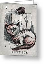 Kitty Sly Greeting Card