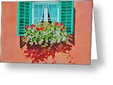 Kitzbuhel Window Greeting Card