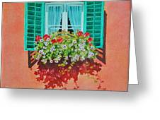 Kitzbuhel Window Greeting Card