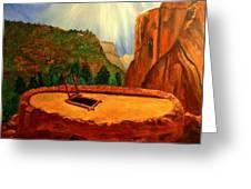 Kiva In Bandelier National Monument Greeting Card