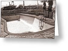 Kiva Motel -  Empty Pool Greeting Card