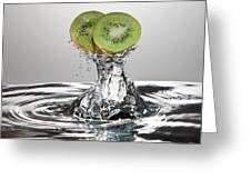 Kiwi Freshsplash Greeting Card by Steve Gadomski