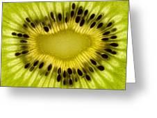 Kiwi Fruit Macro 2 Greeting Card