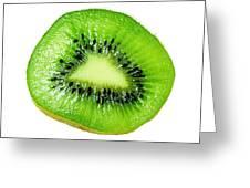 Kiwi On White Greeting Card