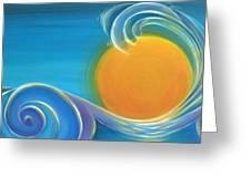 Kiwiana Surf Sun Greeting Card