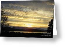 Klamath Lake Sunset Greeting Card