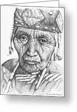 Klamath Woman Greeting Card