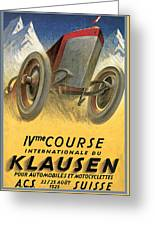 Klausen Automobile Greeting Card