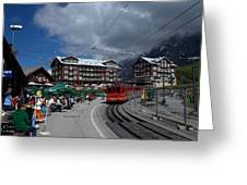Kleine Schedegg Switzerland Greeting Card