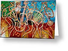 Klezmer Music Band Greeting Card