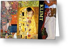 Klimt Collage Greeting Card
