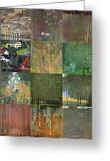 Klimt Landscapes Collage Greeting Card