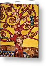 Klimt Study Tree Of Life Greeting Card