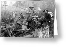 Klondike Gold Rush Miners  1897 Greeting Card