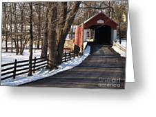 Knecht's Bridge On Snowy Day - Bucks County Greeting Card