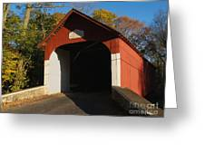 Knecht's Covered Bridge In October In Bucks County Pa Greeting Card
