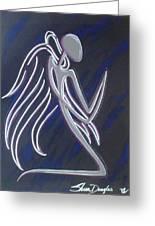 Kneeling Angel Greeting Card