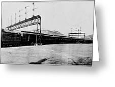 Knickerbocker Special Leaving St. Louis Union Station Greeting Card by Georgia Fowler