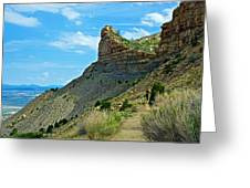 Knife Edge Road Overlooking Montezuma Valley In Mesa Verde National Park-colorado  Greeting Card