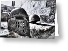 Knight Helmet Greeting Card