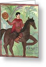Knight Of Pentacles Greeting Card