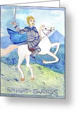 Knight Of Swords Greeting Card