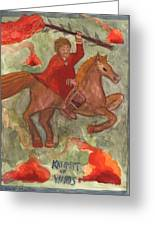 Knight Of Wands Greeting Card