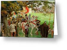 Knights Assembling, From Sir Nigel Greeting Card
