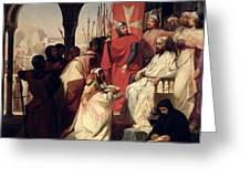 Knights Of The Order Of St John Of Jerusalem Restoring Religion In Armenia Greeting Card
