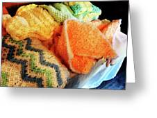 Knitting For Baby Greeting Card