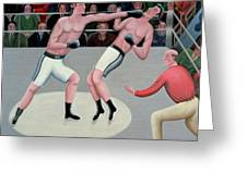 Knock Out Greeting Card by Jerzy Marek