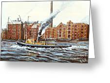Knocker White Sailing Down River Past Rotherhithe Greeting Card